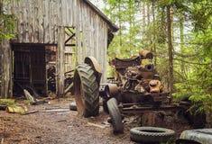 Rusty abandoned tractor Stock Photo