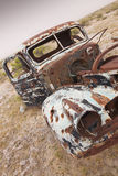 Rusty Abandoned Truck. Old Rusted Truck with Open door and Bullet Holes Stock Photography