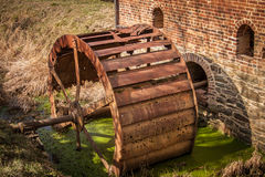 Rusty, Abandoned Water Wheel Royalty Free Stock Photography