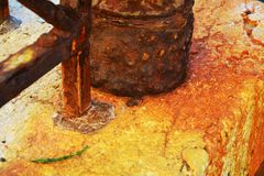 Rusty abstract background in Venice, Italy Royalty Free Stock Photography