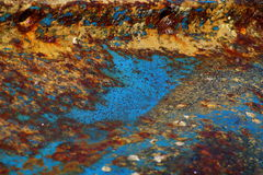 Rusty Abstract. Close up rusty ship wrecked keel Stock Image
