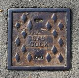 Rusty Access Plate Stock Photography