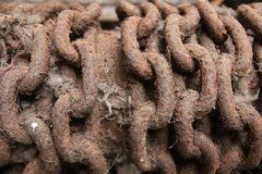 rusty łańcuszkowy Fotografia Stock