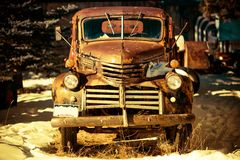 Rusty Aged Pickup Truck Royalty Free Stock Images