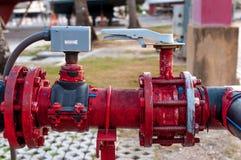 Rusty aged pump valve functioning Stock Image