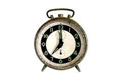 Rusty alarm clock isolated on white Royalty Free Stock Photos
