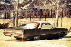 Rusty American Classic Car Stock Photo