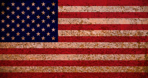 Rusty American Flag Royalty Free Stock Image
