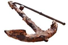 Rusty anchor royalty free stock photo