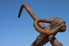 Rusty anchor Royalty Free Stock Photo
