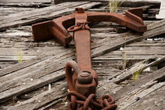 Rusty Anchor - Brisbane - Australien lizenzfreies stockfoto