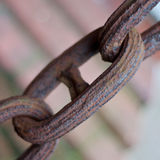 Rusty anchor chain Stock Images