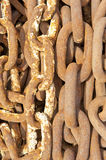 Rusty anchor chains Royalty Free Stock Images