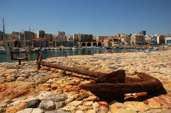 Rusty anchor of Heraklion Royalty Free Stock Photography
