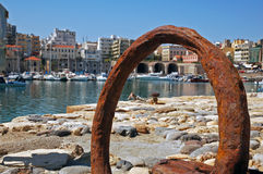 Rusty anchor of Heraklion 2 Royalty Free Stock Photography