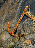 Rusty anchor Stock Images