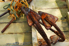 Rusty anchor Royalty Free Stock Images