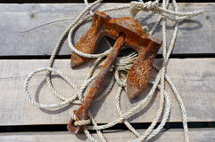 Rusty anchor Stock Image