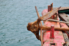 The rusty anchor Stock Photography
