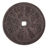 Rusty ancient asian coin Royalty Free Stock Photography