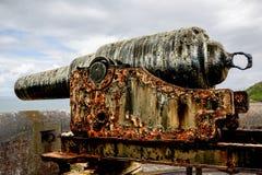Rusty Ancient Cannon, Großbritannien Stockfotos