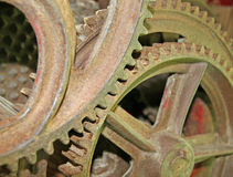 Rusty and ancient gear of a gear wheel Royalty Free Stock Photo