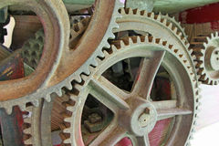 Rusty and ancient gear of a gear wheel Stock Photography