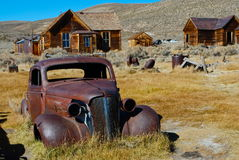 Rusty antique car in Bodie Royalty Free Stock Image