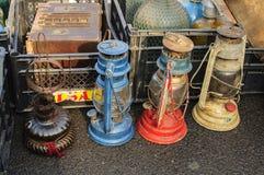 Rusty antique Kerosene Lamps Royalty Free Stock Photos