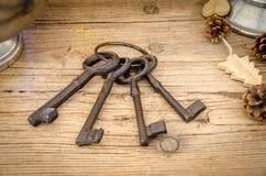Rusty antique keys Royalty Free Stock Photos