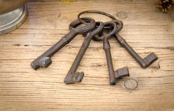 Rusty antique keys Royalty Free Stock Images