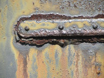 Rusty Antique Metal Door Detail-Beschaffenheit Stockbilder