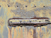 Rusty Antique Metal Door Hinge Detail Texture Stock Photo