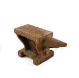 Rusty anvil. To forge and hard work Stock Photo