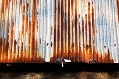 Rusty appeared on grunge metal zince plate Royalty Free Stock Images