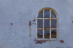 Rusty Arched Window imagem de stock