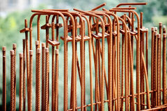 Rusty armature rods Stock Photo