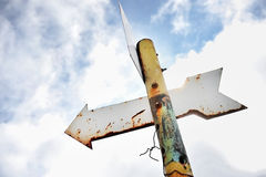 Rusty arrow signpost Royalty Free Stock Photos