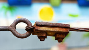 Rusty attachment Stock Photo