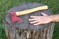 Rusty axe Stock Image