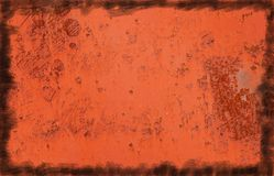 Rusty background. From a metallic surface Royalty Free Stock Images
