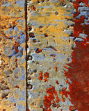 Rusty background. Abstract corroded colorful wallpaper grunge background iron rusty artistic wall peeling paint Royalty Free Stock Photography