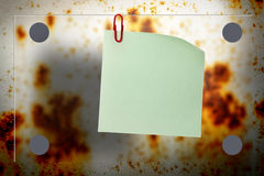 Rusty background. Blank rusty background with blur board and paper royalty free stock photo
