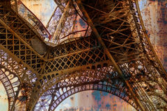 Rusty background  with Eiffel tower 5 Stock Photo