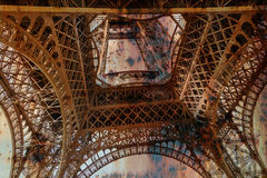 Rusty background  with Eiffel tower 2 Stock Photo