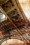 Rusty background  with Eiffel tower 7 Stock Image