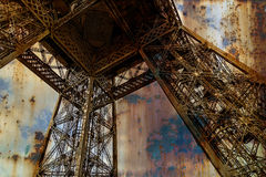 Rusty background  with Eiffel tower 3 Stock Photography