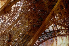 Rusty background  with Eiffel tower 6 Royalty Free Stock Photography