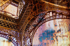 Rusty background  with Eiffel tower 1 Royalty Free Stock Photos