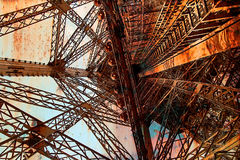 Rusty background  with Eiffel tower 12 Stock Images